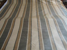 SILK TAFFETA STRIPE, GREY, BEIGE, TAUPE, BY THE YARD