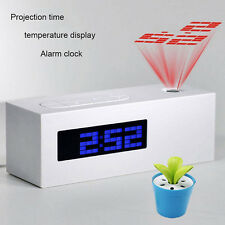 New Alarm Clock FM Radio Laser Projection Displays Time Date Temperature U R S