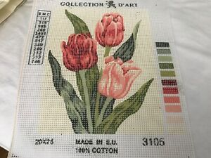 Tulips Collection D'Art Needlepoint Canvas
