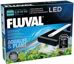 Fluval Multi-spectrum LED Aquarium light System, 5-10 Gallon, NIB 7800k, 8W