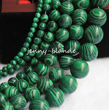 40PCS Natural Malachite Gemstone Round Spacer Loose Beads Making Craft 4mm