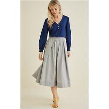 Amour Vert Shayla Blue Indigo Long Sleeve Shirt Size Small
