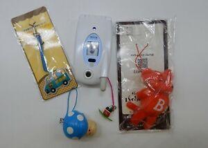 CUTE Japanese cel phone display & accessory charm strap LOT Japan Kawaii mouse +