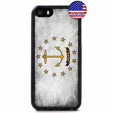 Rhode Island Grunge State Flag Hard Case Cover iPhone 12 Pro Max Mini 11 XS XR