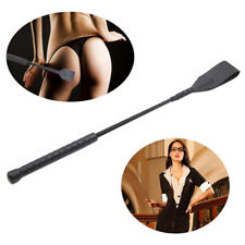 Faux Leather Braided Whip Riding Crop Party Flogger Queen Restraint Toy Cosplay