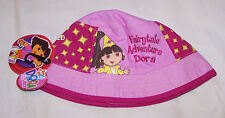 Dora The Explorer Girls Pink Fairytale Bucket Hat Size 54cm New