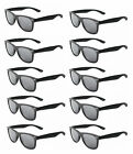 MATTE Black Vintage Sunglasses Retro 80s Dark Lenses - Lot of 10