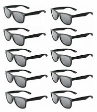 MATTE Black WAYFARER Sunglasses Retro 80s Dark Lenses - Lot of 10