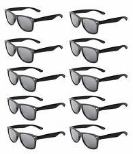 MATTE Black WAYFARER Sunglasses Retro 80s Dark Lenses - Lot of 10