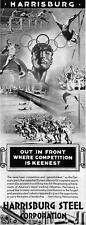 1936 Berlin Olympics Germany HARRISBURG STEEL Track & Field 1936 Magazine Ad