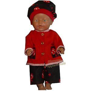 PK121 Puppenkleidung für Baby Puppen 43cm