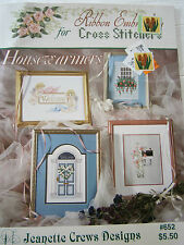 Ribbon Embroidery for Cross Stitch Housewarmers Pattern Book Cherub Welcome Home