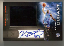 2011 Panini Totally Certified Kevin Durant HRX Video Card Auto #/10 Thunder