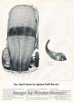 1961 VW Volkswagen Beetle bolts - Original Advertisement Print Art Car Ad J682