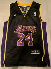 Los Angeles Lakers Kobe Bryant #24 Adidas Black Alternate Jersey Youth XL