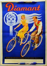 Vinage Diamant German Bicycle-Cycling poster-Vintage Advertisement Diamant bike