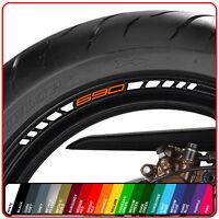 KTM 690 wheel rim stickers decals - 20 colours - duke r abs supermoto smc enduro