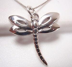 Dragonfly 925 Sterling Silver Pendant Corona Sun Jewelry