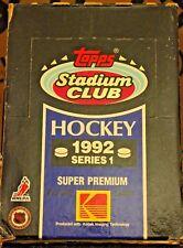 1992-93 Topps Stadium Club Series 1 Hockey box - 36 packs Brand New