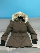 Canada Goose Trillium parka jacket coat trim coyote fur Brown size S/P