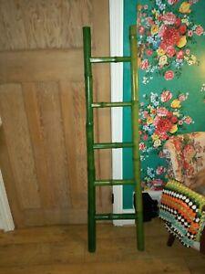 Thick GREEN BAMBOO Ladder 148cm , TOWEL RAIL / Home Decor - ZARA Shop Display