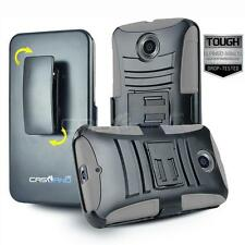 GRAY REFINED ARMOR COVER PHONE CASE & SWIVEL HOLSTER CLIP FOR [MOTOROLA NEXUS 6]