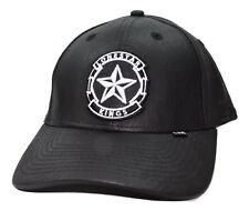 5106d2216f715 Lone Star Kings All Leather Curved Brim Snapback Snap Back Cap Hat Black    White
