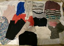 16 Piece Wholesale Used Women's Clothing Lot Size Small tops and bottoms