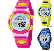 Reloj de Pulsera Girl's Boy's Digital Deportivo Luz Led Alarma Fecha Niños Niños Regalo