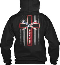 Machine washable Proud Ironworker - Iron Worker Gildan Gildan Hoodie Sweatshirt