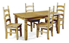 CORONA Small Extending Dining Table and 4 Chairs Set Pine by Mercers Furniture