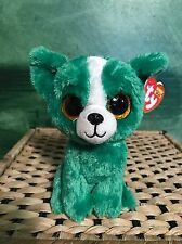 "8ad268bd5e5 Ty DILL -Green White Chihuahua Dog 6"" Beanie Boo  Retired Exclusive"
