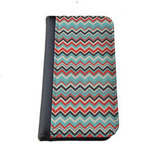 Colorful Chevron Aztec pattern iphone wallet case Samsung Galaxy flip cover