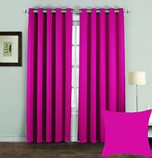 PREMIUM THERMAL BLACKOUT CURTAINS Pair Eyelet Ring Top DRAUGHT HEAT LOSS READY