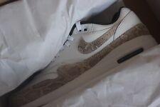 "Nike Air Max 1 G Nrg Txt ""Snakeskin"" Golf Shoes - White/Grey(Ci6876-101) Size 9"