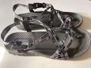 Skechers Outdoor Lifestyle Reggae  Toe Loop Strap Slip on Sandals Womens 9.5