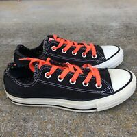 Converse All Star Women Size 6 Black Canvas Low Top Sneakers Shoe Lace Up -VGC