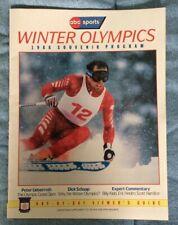 1988 Winter Olympics Souvenir Program Calgary Alberta - (Alberto Tomba)