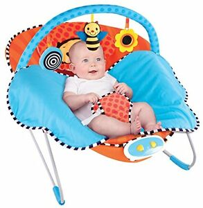 Baby Bouncer Sassy Cuddle Bug Built in Blanket, Whimsical Bumble Bee  Bouncer