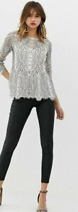 Lace Top River island 12