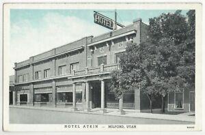 1920's Milford, Utah - Vintage Hotel Postcard - Beaver County