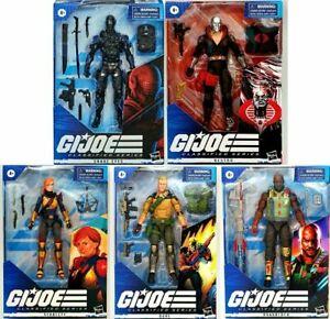 "G.I. Joe Classified Series Wave 1 Set of 5  6"" Figure Snake Eyes Destro Figure"