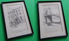 C. Williams 1933 Fort Washington & Suspension Bridge Frame Pictures