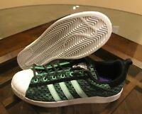 c86f53744c18ed Adidas Men s Superstar Green Black White Toe Glow in the Dark F37671 Size 10