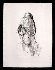 Hans-Theo giudici con firma litografia 1958 DDR Arte firmato