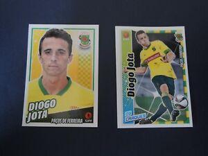 Diogo Jota Portugal / Liverpool Panini ROOKIE sticker x2