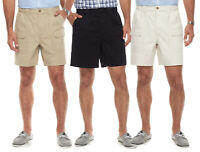 New Croft & Barrow Men's Relaxed-Fit Side-Elastic Cotton Cargo Shorts Size 36-44