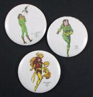 Lot of 3 1984 MARVEL X-MEN Series A Mile High Comics Pinback Buttons Tin Pin