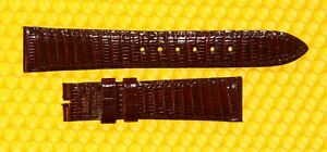 16mm CARTIER Real-Lizard Leather OXBLOOD Watch Strap Band 16mm x 14mm SWISS MADE