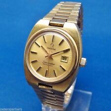 Omega Seamaster Gold Plated Strap Wristwatches
